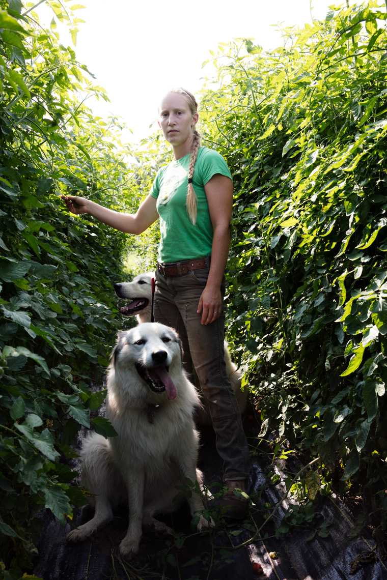 WISCONSIN. USA.  The Soil Sisters farmers for Modern Farmer Magazine.