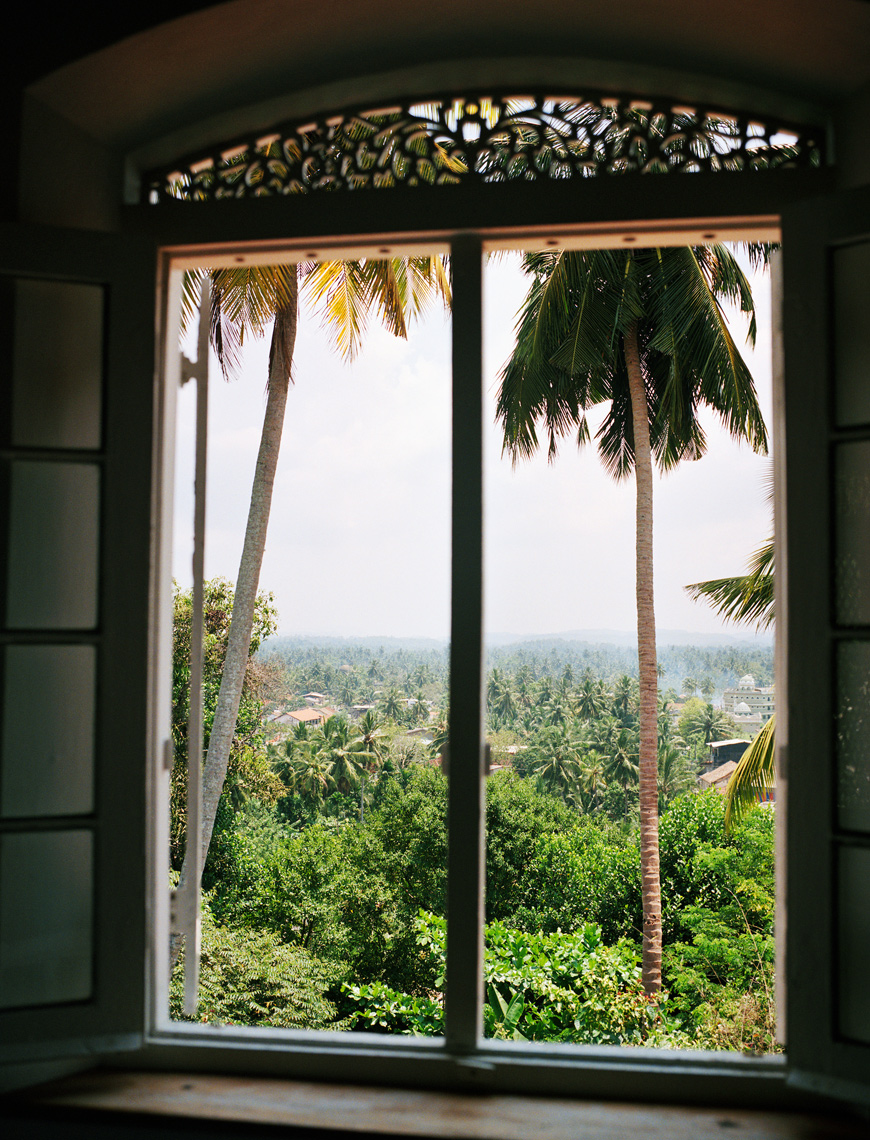 SRI LANKA, Asia, view from the window of Sun House hotel